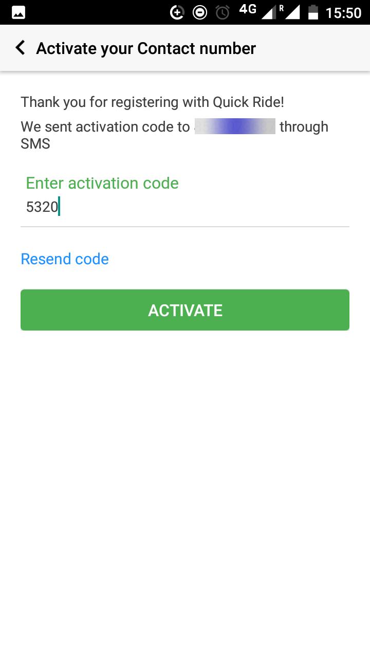 Carpool account activation