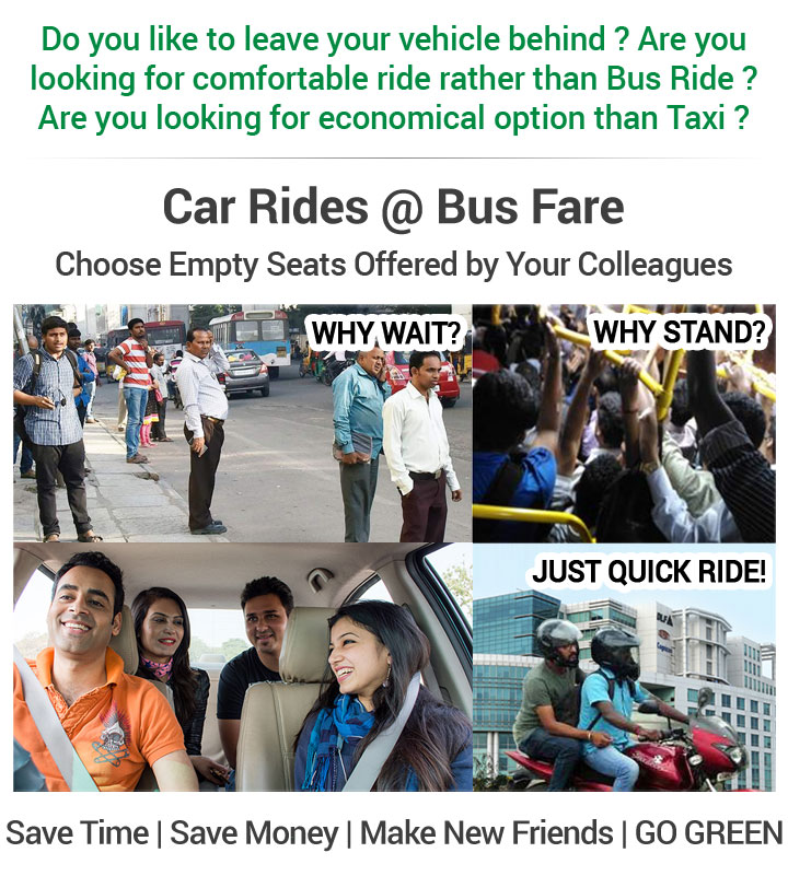 Find Shared Rides at bus fare