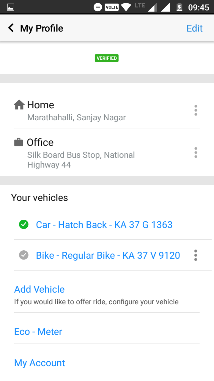 Multi-Vehicle Support for Carpool