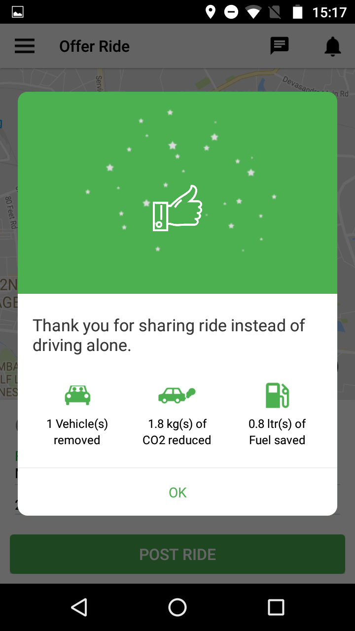 Contribution by Carpooling