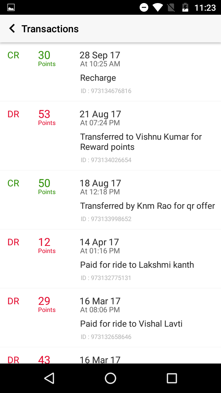 Recharge Carpool app